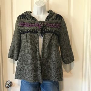 Free People Hooded Swing Style Cardigan sz Small